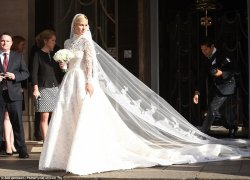 Blushing bride: Nicky Hilton