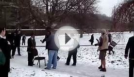 South African Rugby Team playing in the Snow in Kensington