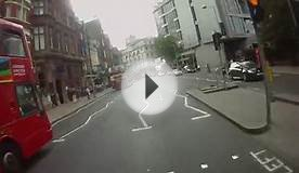 YP59OEX - London bus - close pass and cut in - High Street